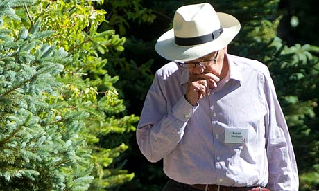Rupert Murdoch in Sun Valley, Idaho